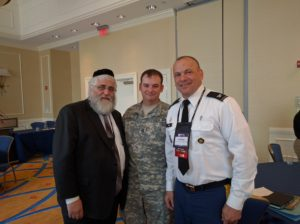 Chaplain (Col.) Carleton Birch, DLA Chaplain, U.S. Army, Staff Sgt. John (J.B.) Edmisten, Chaplain NCOIC, U.S. Army, Abe Halberstadt, Founder Labriute Meals.